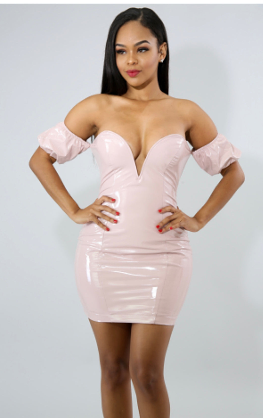Puff Barbie Body-Con Dress  PINK