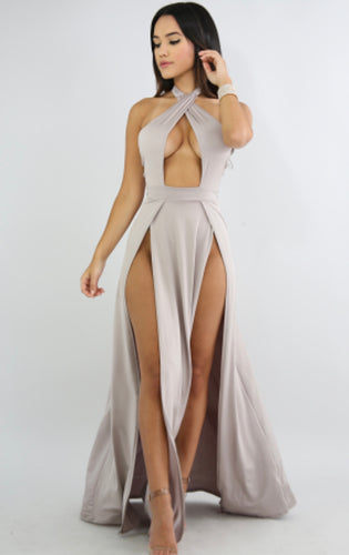 Fire Slit Maxi Dress
