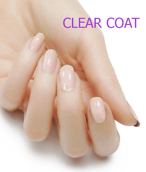 Crystal Clear Nail Polish Top Coat Strips - Glitterati-The BEST Nail Polish Wraps, Nail Polish Stickers