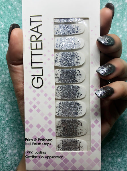 """Star Shower"" Ombre Tip Nail Polish Strips - Glitterati"