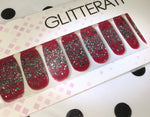 """Jingle Jingle"" Ombre Glitter Nail Polish Strips - Glitterati"