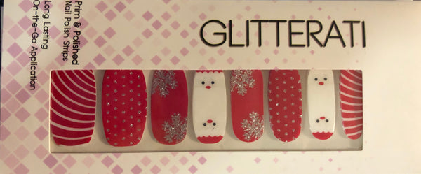 """Santa"" Holiday Nail Polish Strips - Glitterati"