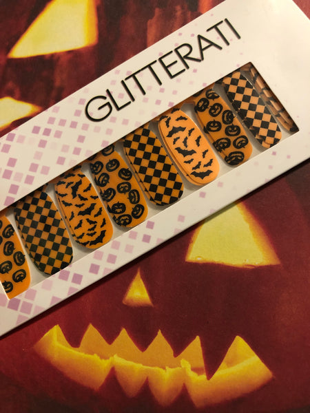 """Hallow's Eve"" Halloween Nail Polish Strips Pre-Sale - Glitterati"