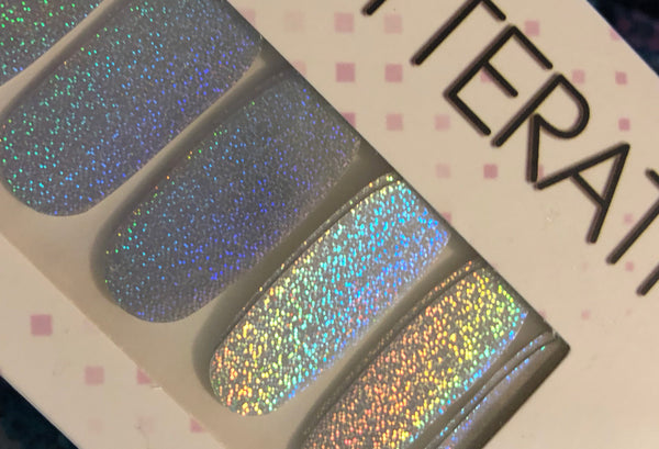 """Unicorn Tears"" Holo Nail Polish Strips - Glitterati"