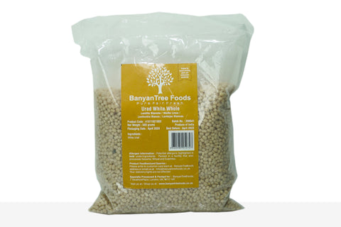 BanyanTree Foods Natural White Lentils (Urad Dal White) Whole