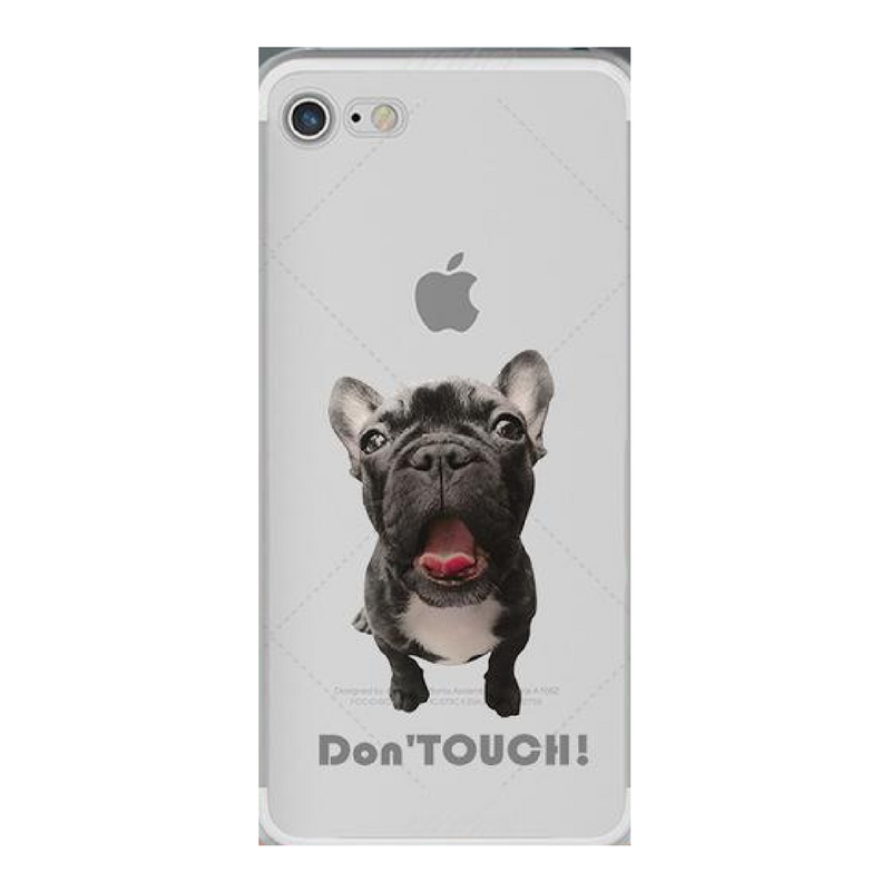 Don't Touch French Bulldog iPhone Cover