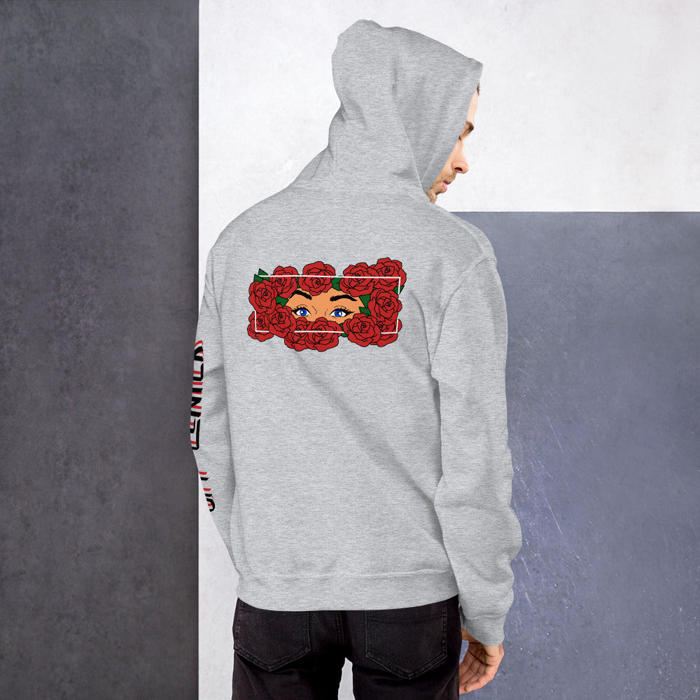 Roses back graphic light hoodie