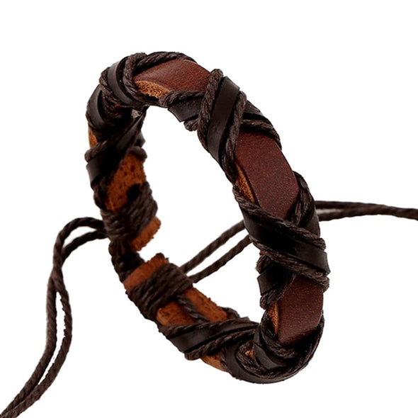 Unisex Weave Vintage Leather Bracelet