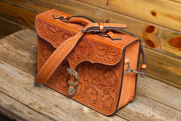 Natural Floral Antique Briefcase