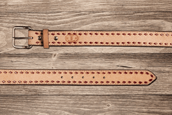 Roughout Buckstich Belt