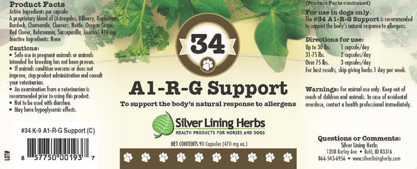 #34 AL-R-G Support