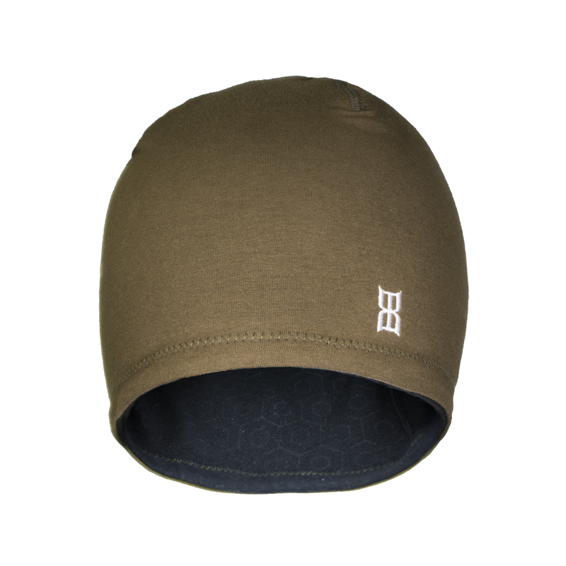 HEXED Jersey Beanie in brown color