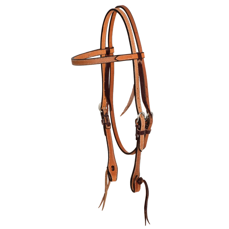 5/8'' Rough Out Twisted and Tied Browband Headstall
