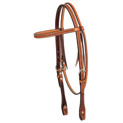 5/8'' Golden Spider Stamp Browband Headstall