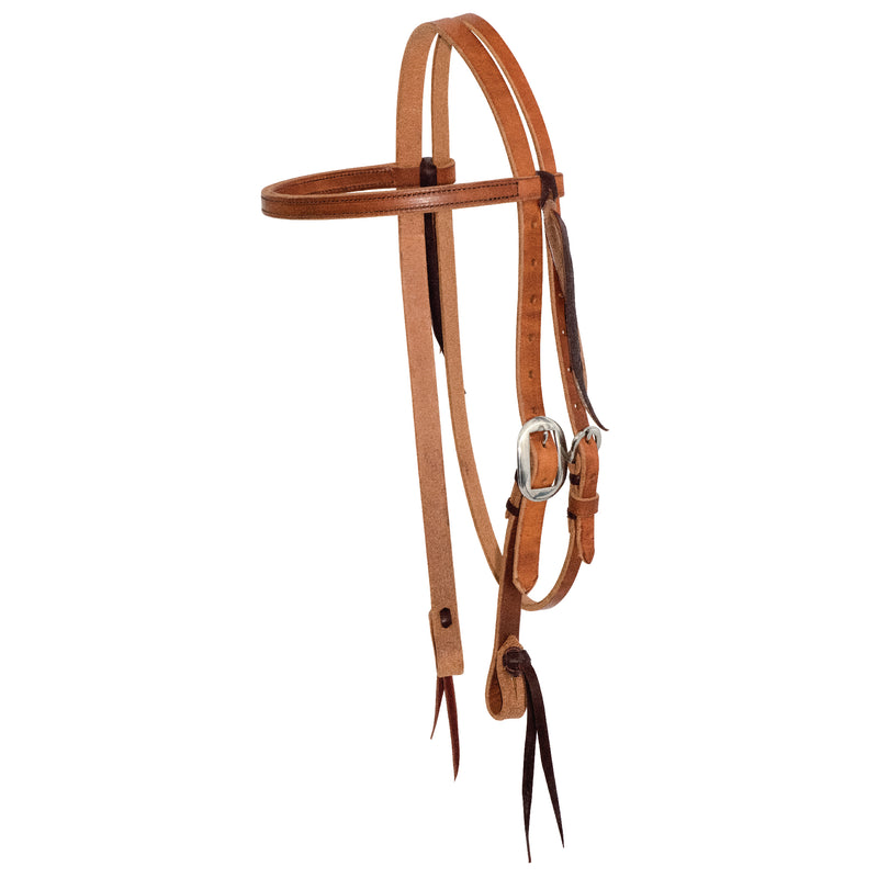 3/4'' Twisted & Tied Browband Headstall