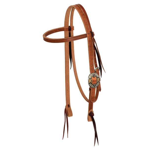 3/4'' Twisted & Tied Browband With Silver Texas Buckle