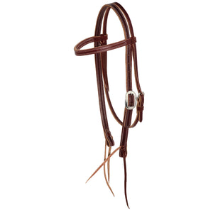 3/4'' Latigo Browband Headstall - Burgundy