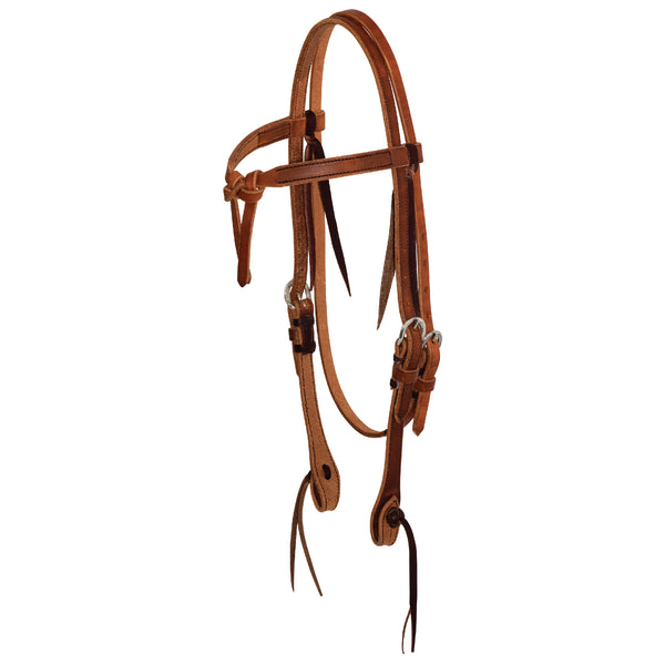 5/8'' Tie Front Browband Headstall