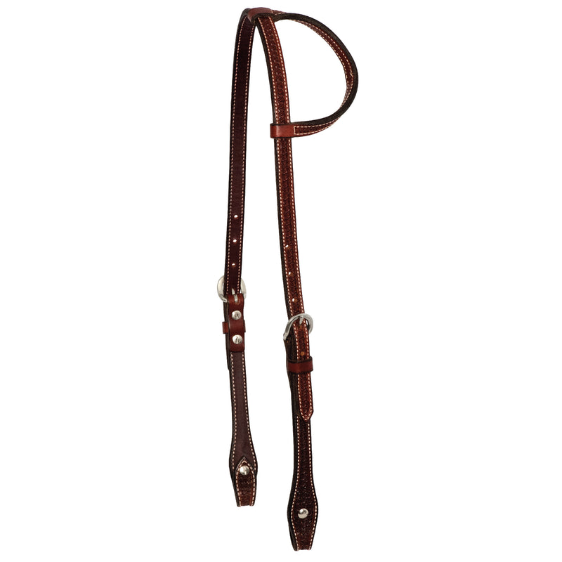 Rosewood Spider Stamp Slip Ear Headstall