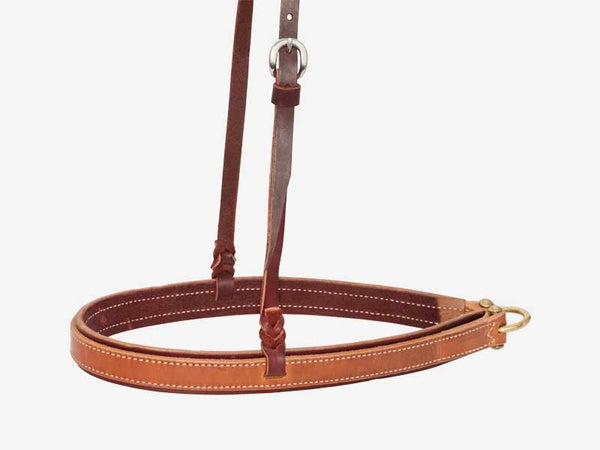 1-1/4'' Latigo Noseband With Harness Overlay