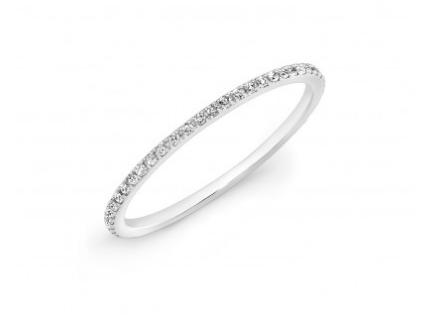 14KT White Gold Micro Band - Cabochon Fine Jewelry