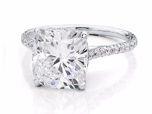4 Prong Square Cushion Engagement Ring