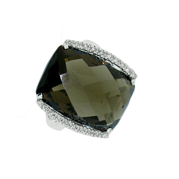 BLACK ONYX WITH DIAMOND RING - Cabochon Fine Jewelry