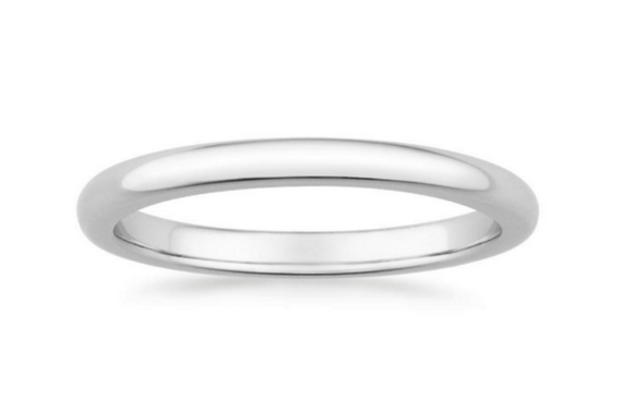 SOLID WEDDING RING - Cabochon Fine Jewelry