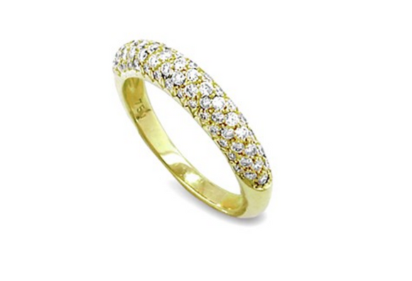18KT MULTI ROW DIAMOND RING - Cabochon Fine Jewelry