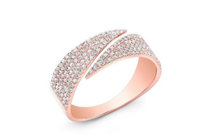 ROSE GOLD DIAMOND WRAPP RING - Cabochon Fine Jewelry