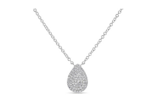 14KT PEAR NECKLACE - Cabochon Fine Jewelry