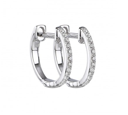 14KT DIAMOND MICRO HUGGIE EARRINGS - Cabochon Fine Jewelry