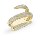 GOLD DIAMOND WRAP RING - Cabochon Fine Jewelry