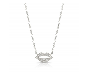 14KT LIPS NECKLACE