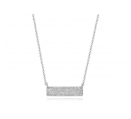 14KT PAVE BRICK NECKLACE - Cabochon Fine Jewelry
