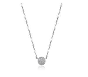 14KT PAVE DISC NECKLACE