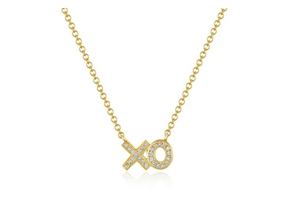 GOLD XO NECKLACE - Cabochon Fine Jewelry