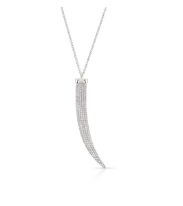 14KT PAVE HORN NECKLACE - Cabochon Fine Jewelry