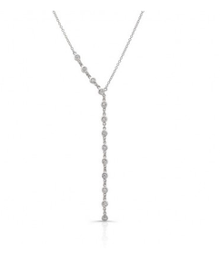 14KT BEZEL Y NECKLACE - Cabochon Fine Jewelry