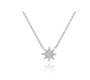 14KT STARBURST NECKLACE - Cabochon Fine Jewelry