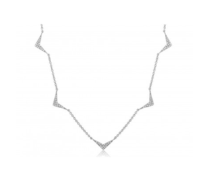 14KT CHEVRON CHAIN NECKLACE - Cabochon Fine Jewelry