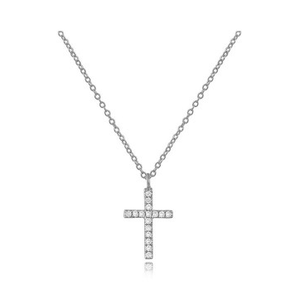 14KT CROSS NECKLACE - Cabochon Fine Jewelry