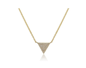 GOLD SMALL TRIANGLE NECKLACE - Cabochon Fine Jewelry