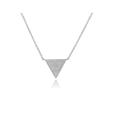 14KT LARGE TRIANGLE NECKLACE - Cabochon Fine Jewelry