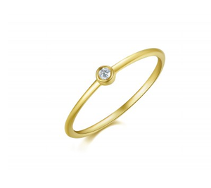 GOLD LE PETITE BEZEL RING - Cabochon Fine Jewelry