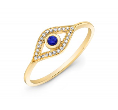 GOLD EVIL EYE RING - Cabochon Fine Jewelry