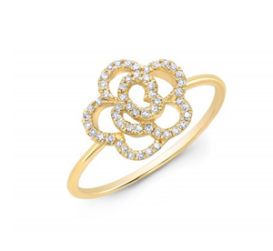 GOLD ROSETTE RING - Cabochon Fine Jewelry