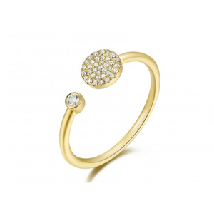 GOLD PAVE AND BEZEL RING - Cabochon Fine Jewelry