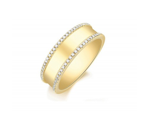 GOLD ENGRAVABLE RING - Cabochon Fine Jewelry