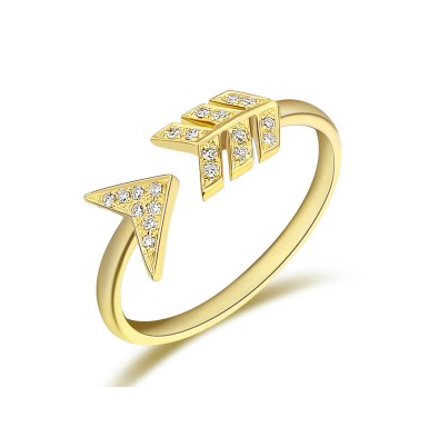 GOLD ARROW RING - Cabochon Fine Jewelry